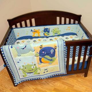 Baby's First Monsters Party 4-piece Crib Bedding Set