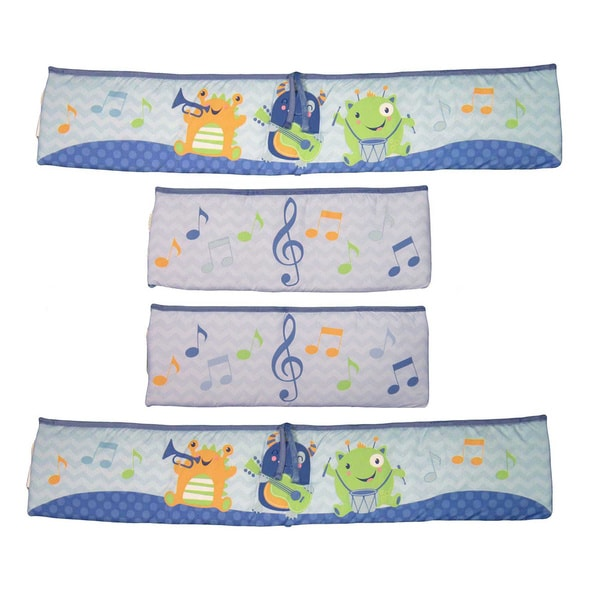 Baby's First Monsters Party 4-piece Crib Bumper