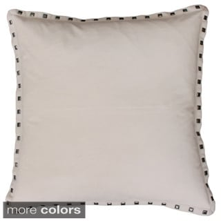 Payton Nailhead 19-inch Feather Filled Throw Pillow
