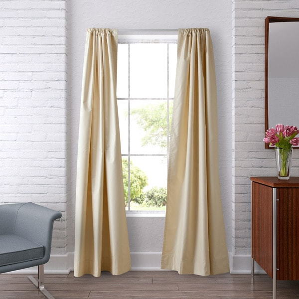 heritage landing 96 inch faux silk blackout drapes
