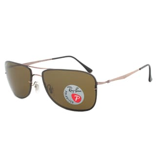 Ray-Ban RB8054 158/83 LightRay Polarized Sunglasses with a Black Frame and Grey Mirrored Lens