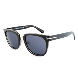 Tom Ford Rock Sunglasses TF 290 92A with a Dark Grey Frame and Grey Lenses