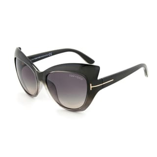 Tom Ford TF9284 20B Bardot Sunglasses, Taupe Frame, Grey Gradient Lens