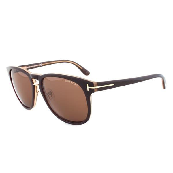 Tom Ford TF346 50J Franklin Sunglasses, Brown Frame, Brown Lens