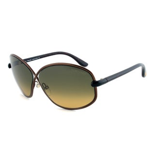 Tom Ford TF160 36P Brigette Sunglasses with Bronze Frame and Green/Yellow Gradient Lenses