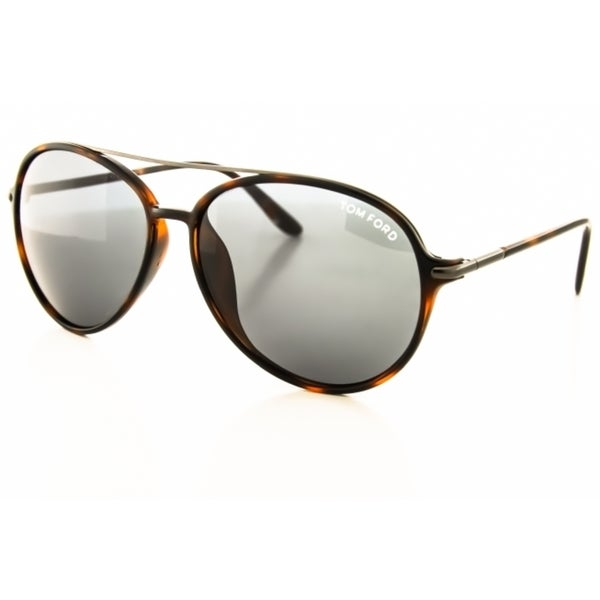 Tom Ford TF209 54A Asian Fit Sunglasses with a Dark Tortoise Frame and Grey Lenses