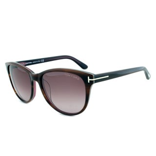 Tom Ford TF213 50T Asian Fit Sunglasses with a Tortoise Frame and Violet Gradient Lens