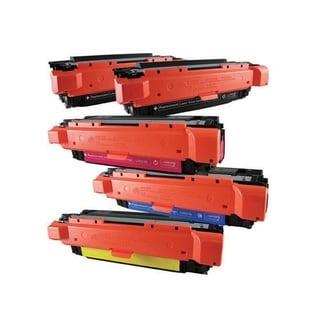 Compatible HP CE250X CE251A CE252A CE253A Black Cyan Magenta Yellow Toner Cartridge CM3530 CM3530fs CP3525 (Pack of 5)