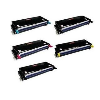 Xerox 6180 Compatible Toner Cartridge 2 Black, 1 Cyan, 1 Magenta, 1 Yellow For 6180 MFP6180 6180N 6180DN ( Pack of 5 )