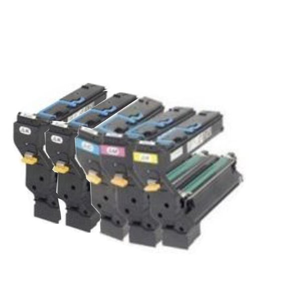 QMS 5430 2 Black , 1 Magenta , 1 Cyan , 1 Yellow Compatible Toner t Cartridge For 5430 5450 ( Pack of 5 )
