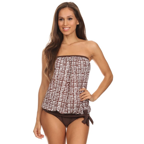 Dippin Daisy's Geo Two Piece Bandeau Blouson Tankini
