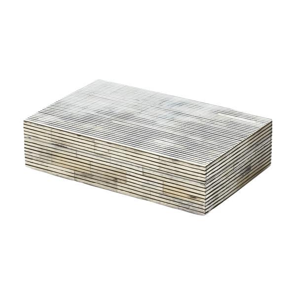 Dimond Home Small Pin Stripe Bone Box