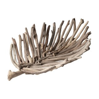 Dimond Home Large Driftwood Leaf Tray
