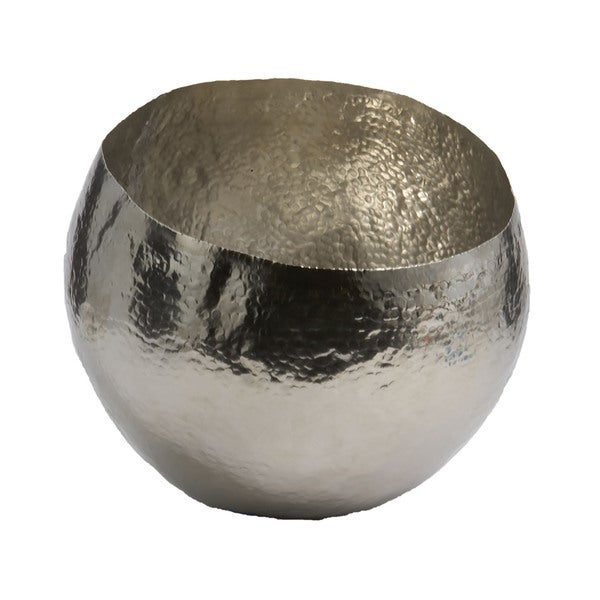 Dimond Home Small Hammered Nickel-plated Brass Dish