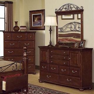 Alpine Dresser and Mirror Set