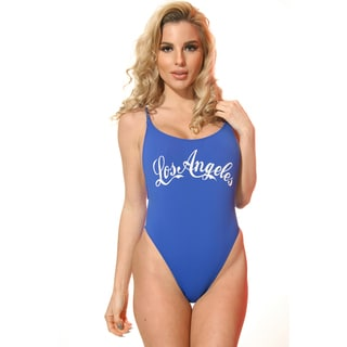 Dippin Daisy's Blue Los Angeles High Cut Vintage Swimsuit