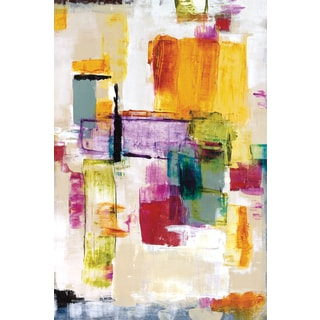 Dysart 'Color Whimsy I' 24x36 Framed Canvas Wall Art