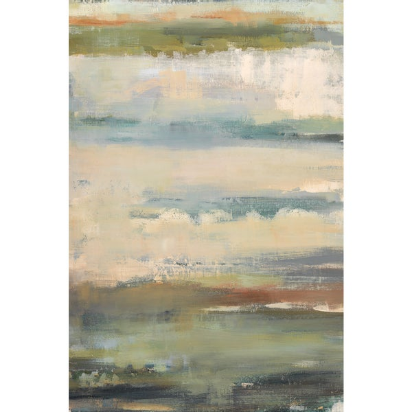 Elinor Luna 'Atmos Phere II' 24x36 Framed Canvas Wall Art
