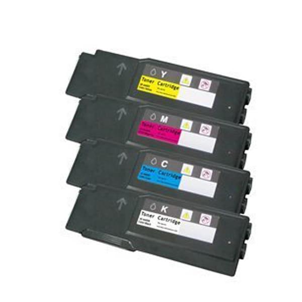 Xerox 6600 Compatible Toner Cartridge Black Cyan Magenta Yellow For Phaser 6600N toner ( Pack of 4 )