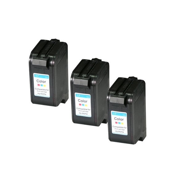 HP C6625 Black Compatible Inkjet Cartridge For Deskjet Deskjet 843C Deskjet 84 Deskjet 845C Deskjet 845Cvr ( Pack oF 3 )