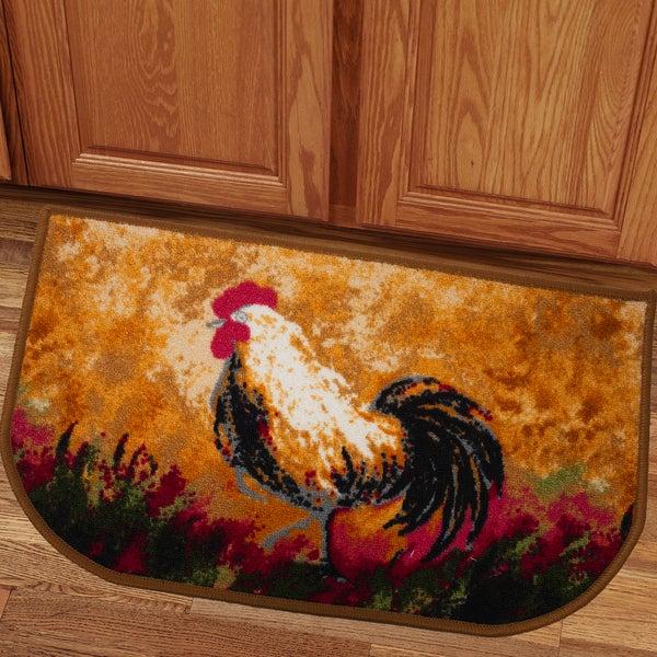 Country Hen 18x30 Kitchen Slice Rug