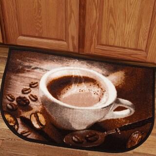Charming Coffee Bean 18x30 Kitchen Slice Rug
