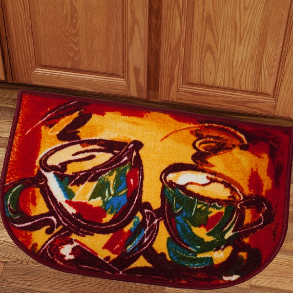 Colorful Latte 18x30 Kitchen Slice Rug