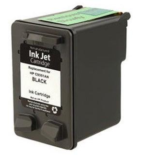 HP C9351A XL (HP 21) Black Compatible Inkjet Cartridge For D1320 , D1330 , D1341 , D1360 , D1420 , D1430 ( Pack of 1 )