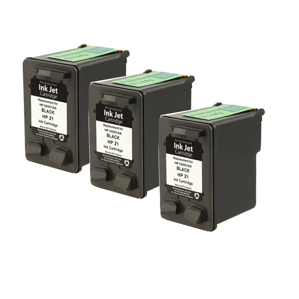 HP C9351A XL (HP 21) Black Compatible Inkjet Cartridge For D1320 , D1330 , D1341 , D1360 , D1420 , D1430 ( Pack of 3 )