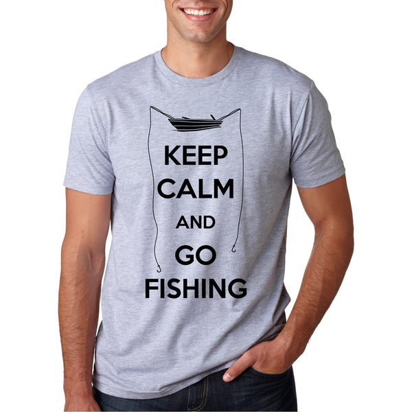 Men's Keep Calm and Go Fishing Cool Fish T-shirt