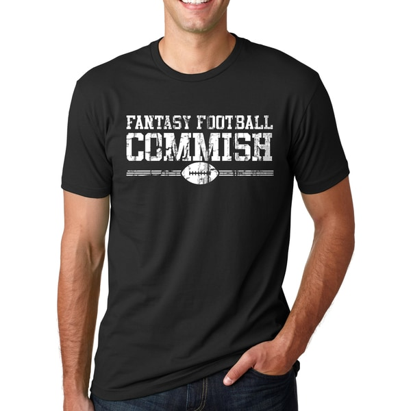 Mens Fantasy Football Commish Cool Foot ball T-shirt