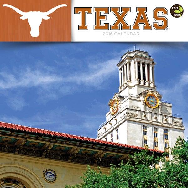 2016 University of Texas Wall Calendar