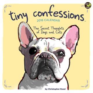 2016 Tiny Confessions Wall Calendar