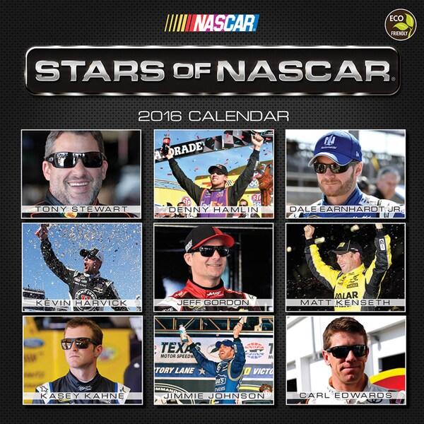 2016 Stars of NASCAR Wall Calendar