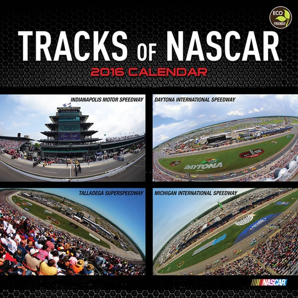 2016 Tracks of NASCAR Wall Calendar