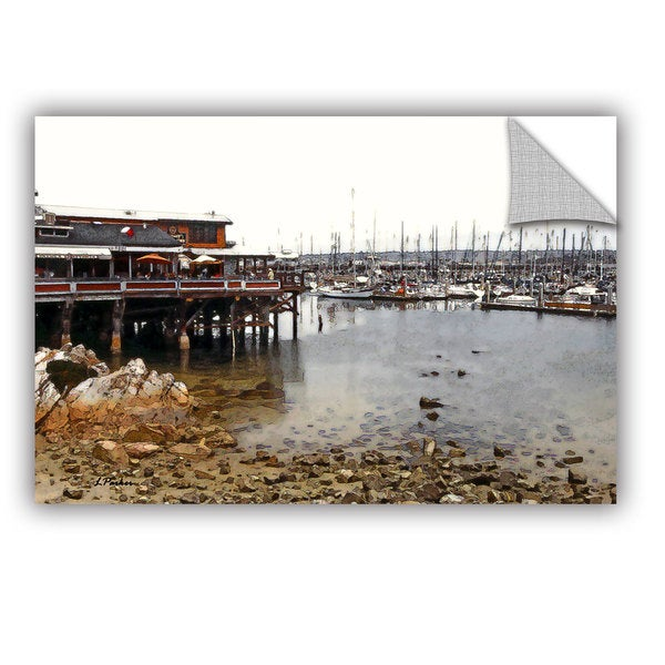 ArtAppealz Linda Parker 'Old Fisherman'S Wharf - California' Removable Wall Art