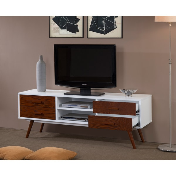 Chestnut White Thora Entertainment Center