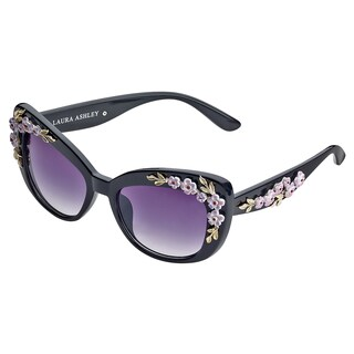 Laura Ashley Flower Accent Cateye Sunglasses