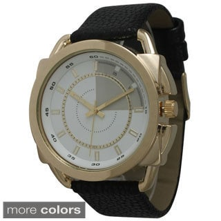 Olivia Pratt Men's Bold Dial Leather Watch