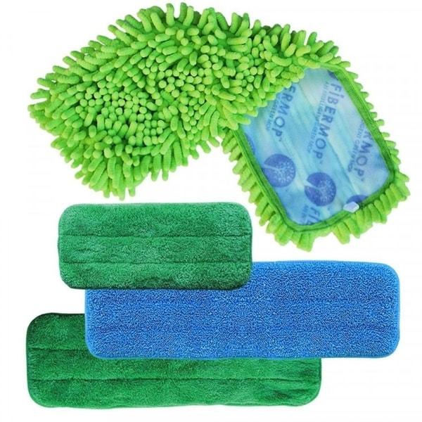 Fibermop 3+1 Piece Replacement Mop Set - Green 15940395