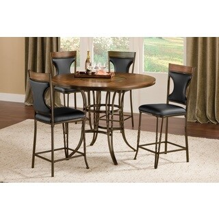 Westwind Wood/ Metal Lazy Susan Pub Table
