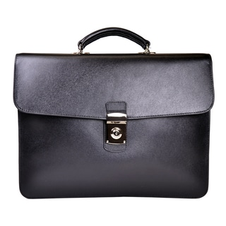 Royce Leather Saffiano Leather 14-inch Laptop Luxury Slim Briefcase