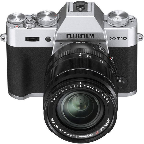 Fujifilm X-T10 Mirrorless Digital Camera with 18-55mm Lens (Silver)