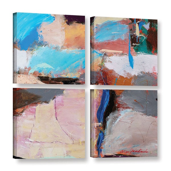 ArtWall Allan Friedlander 'Nothing Of Everything' 4 Piece Gallery-wrapped Canvas Square Set