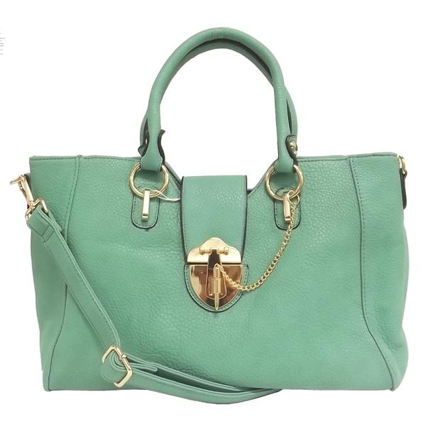 Textured Dual Handle Tote Bag