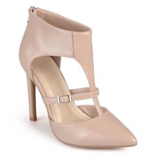Journee Collection Women's 'Rowan' T-strap Pointed Toe Heels