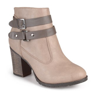 Journee Collection Women's 'Celyn' Buckle High Heel Ankle Boots