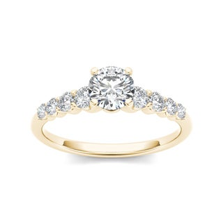 De Couer 14k Yellow Gold 3/4ct TDW Classic Diamond Engagement Ring (H-I, I2)