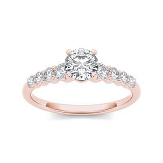 De Couer 14k Rose Gold 3/4ct TDW Classic Diamond Engagement Ring (H-I, I2)