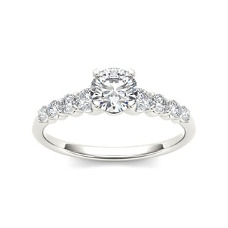 De Couer 14k White Gold 3/4ct TDW Classic Diamond Engagement Ring (H-I, I2)